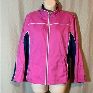 Petite size large - Pink and navy spring jacket